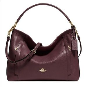 Coach Scout Hobo Pebble Leather Purple NWT